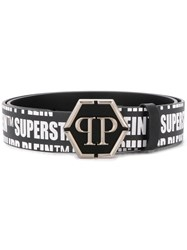 Philipp Plein Logo Buckle Belt Black