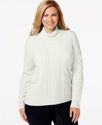 Karen Scott Plus Size Turtleneck Cable Knit Sweater Only At Macy's