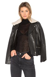Mkt Studio Vulcania Faux Sherpa Leather Jacket Black