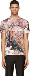 Carven Green Macro Forest Print T Shirt