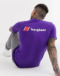 Berghaus Heritage Front And Back Logo T Shirt In Purple