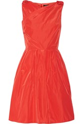 Raoul Jeanette Bow Embellished Taffeta Dress Red