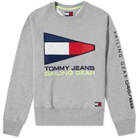 Tommy Jeans 5.0 90S Sailing Logo Crew Sweat Grey