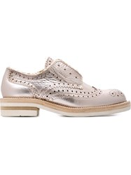 Pedro Garcia 'Kalee' Brogue Shoes Pink And Purple
