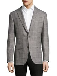 Pal Zileri Window Pane Coat Grey