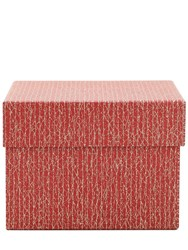 Rubelli Medium Craquele Lacca Box Red