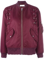 Iro Ilisa Lace Up Bomber Jacket Red