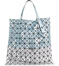 Issey Miyake Platinum Two Tone Tote Blue Silver