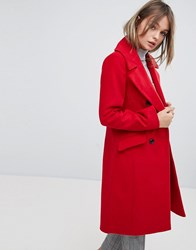 Oasis Tailored Double Breatsed Coat Bright Red