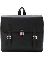 Thom Browne Unstructured Leather Book Bag Black