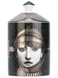 Fornasetti Armatura Scented Candle Unisex Wax Porcelain One Size Black