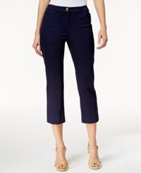 Charter Club Petite Cropped Twill Pants Only At Macy's Intrepid Blue
