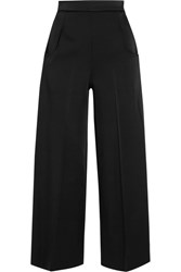 Roland Mouret Ward Satin Wide Leg Pants Black