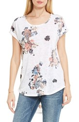 Vince Camuto Women's Two By Bouquet Whimsy Burnout Tee