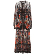 Roberto Cavalli Printed Cotton Maxi Dress Black