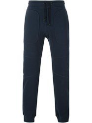 Belstaff Gathered Ankle Track Pants Blue