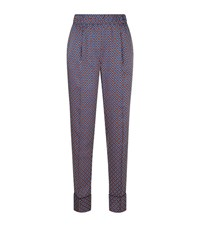 Sandro Dany Printed Trousers Female Red