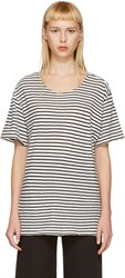 R 13 R13 Black And White Striped Rosie T Shirt