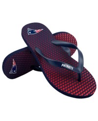 Forever Collectibles New England Patriots High End Flip Flops Navy