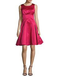 Zac Posen Solid Fit And Flare Dress Fuchsia