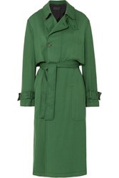 Haider Ackermann Belted Twill Trench Coat Green