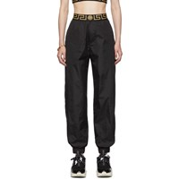 Versace Underwear Black Nylon Greek Key Lounge Pants