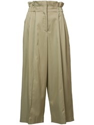 Sonia Rykiel High Rise Cropped Trousers Nude Neutrals