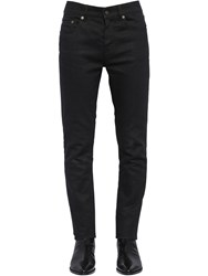 Saint Laurent 16Cm Skinny Low Rise Cotton Denim Jeans Black