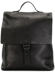 Marsell Flap Backpack Black
