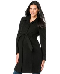 Motherhood Maternity Belted Coat Black