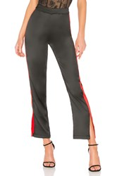 By The Way Lynna Side Slit Track Pant Black