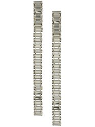 Alberta Ferretti Crystal Embellished Long Earrings Metallic