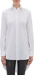 Salvatore Piccolo Oxford Pique Tunic Blouse White Size 38 It