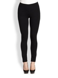 Lafayette 148 New York Punto Milano Riding Leggings Black