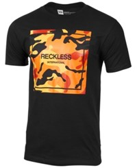 Young And Reckless Men's Digit T Shirt Black