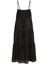 Matteau The Long Tiered Cotton Sundress Black