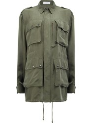 Faith Connexion Loose Fit Military Coat Green