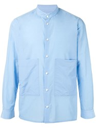 Loveless Oversized Pockets Shirt Blue