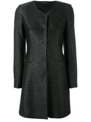 Tagliatore Concealed Placket Coat Black