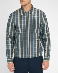 Acne Studios Blue Malcom Check Wool Jacket