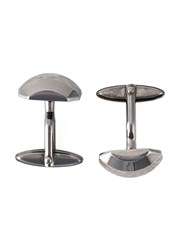 Lanvin Textured Cufflinks Metallic