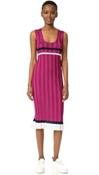 Nina Ricci Sleeveless Knit Dress Fuchsia