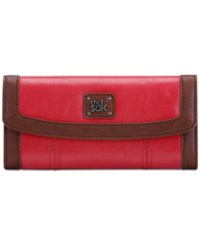 The Sak Iris Leather Flap Wallet Ruby