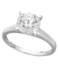 Arabella 14K White Gold Ring Swarovski Zirconia Solitaire Engagement Ring 3 1 3 Ct. T.W. Clear