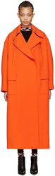 Emilio Pucci Orange Oversized Wool Coat