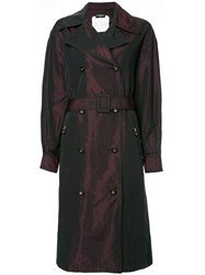 Chanel Vintage Cc Logos Long Sleeve Trench Coat Pink And Purple