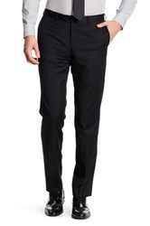 Broletto Wide Leg Flat Front Wool Pant 30 34 Inseam Black