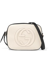 Gucci Soho Disco Textured Leather Shoulder Bag White
