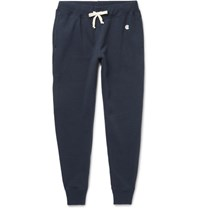 Todd Snyder Champion Tapered Fleece Back Cotton Blend Jersey Sweatpants Navy