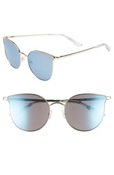 Juicy Couture 56Mm Metal Cat Eye Sunglasses Gold